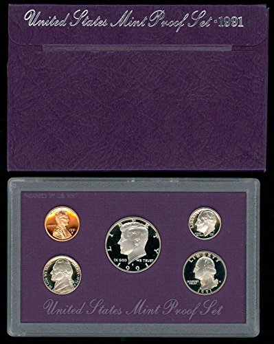1991 Us Mint Proof (1991 S US 5 Piece set Proof In original packaging from US mint Proof)