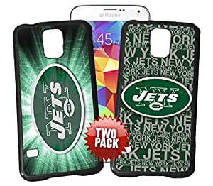 New York Jets Officially Licensed Hard Plastic Phone Case TWO PACK BUNDLE for Samsung Galaxy S4