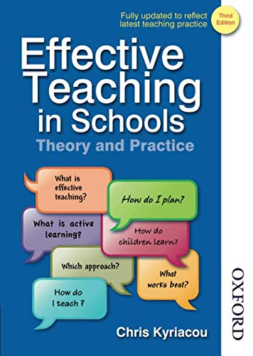 Effective Teaching in Schools Theory and Practice Third Edition