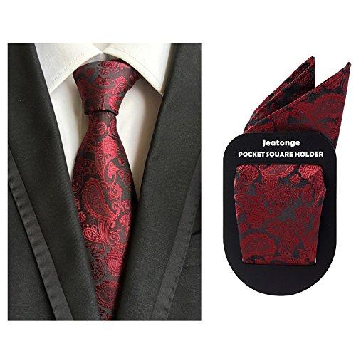 e68541ec3c35 Lot 6 Pcs Mens Ties and 6 Free Matching Pocket Squares, Men's Classic Tie  Necktie