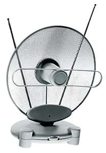 Vivanco TVF 25 - Antena (UHF/VHF/FM, 100 mA, Gris, Color blanco)