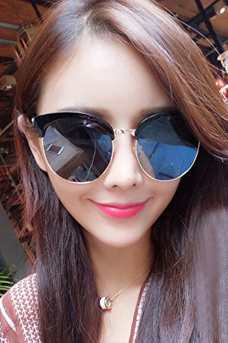 Generic Tide brand in Europe and America retro semi-circular metal frame sunglasses cat-eye sunglasses fashion personality Korean men and women glasses