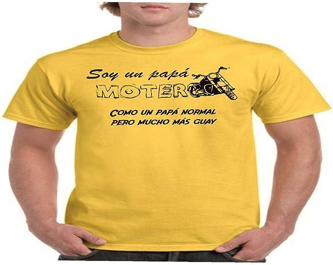 Camisetas divertidas Parent Papa Motero, como un para Normal Pero Mucho mas Guay - para Hombre Camiseta: Amazon.es: Ropa y accesorios