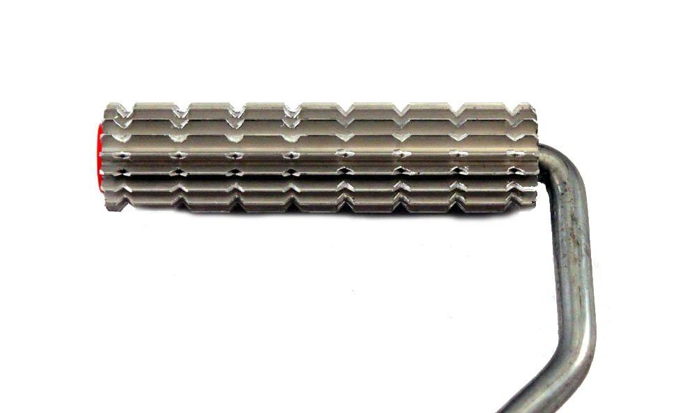 Car Builder Supply 462 Fiberglass Laminating Bubble Buster Slotted Qick Change Aluminum Roller 3//4 x 3