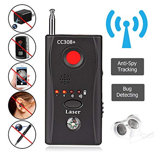 (Bug Detector, Anti Spy Hidden Camera Detector, AHNR Wireless Signal Pinhole Laser Lens GSM Detector Ultra-high Sensitivity Full-Range Tracker Finder)