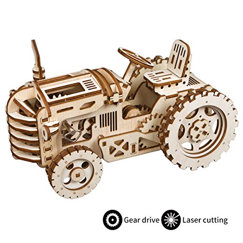 (ROKR Mechanical Models,3-D Assembly Wooden Puzzle,DIY Assembly Toy,Mechanical Gears Constructor Engineering Kits,Brain Teaser,Best Gifts for Adults & Teens)