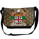 Lov6eoorheeb Unisex Coat Of Arms Of Fiji Wide Diagonal Shoulder Bag Adjustable Shoulder Tote Bag Single Shoulder Backpack For Work,School,Daily