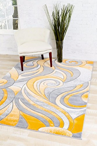4022 Mango abstract 7'10x10'6 Area Rug Carpet Large New