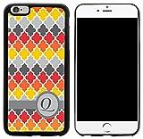 75c572fe6bd Rikki Knight Letter Q Retro Colors Geométrico Monogrammed Design iPhone  6/6s Plus Hybrid Case