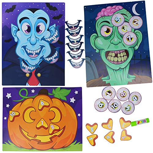 JOYIN Halloween Party Supplies Pin the Nose on