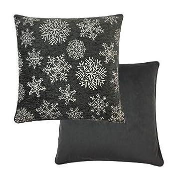 Relleno Copos Nieve Navidad Gris Blanco Chenille Terciopelo ...