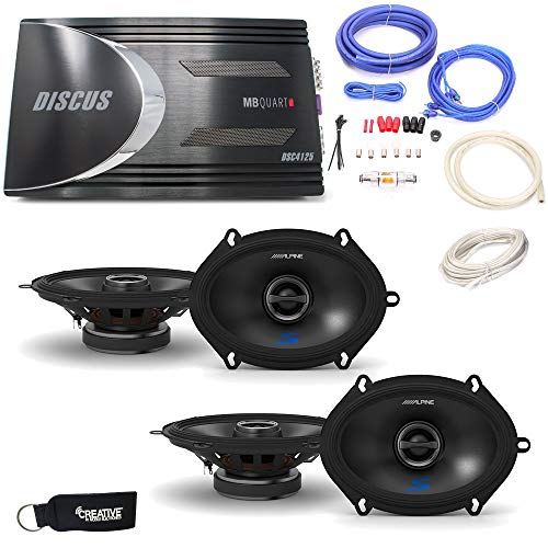 Alpine - Two Pairs of S-S57 5x7 / 6x8 Coaxial Speakers, a MB
