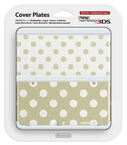 Kisekae Plate / Faceplate No.027 Gold and White Dot [NEW Nintendo 3DS]