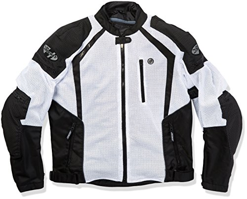 Joe Rocket 1516-4704 Phoenix Ion Men's Mesh Motorcycle Jacket (White, Large)