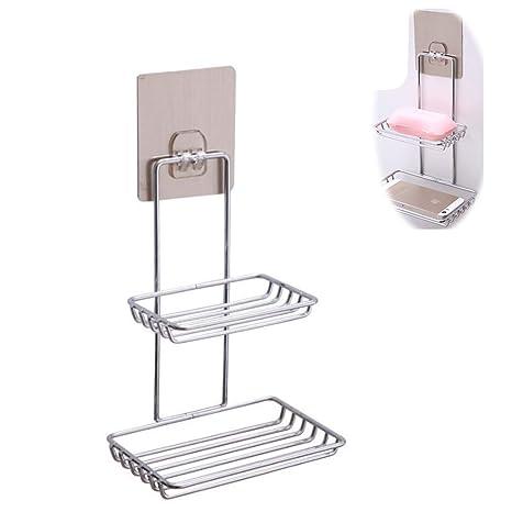 KAIMENG 1 Pieza Organizador de baño Adhesivo Acero ...
