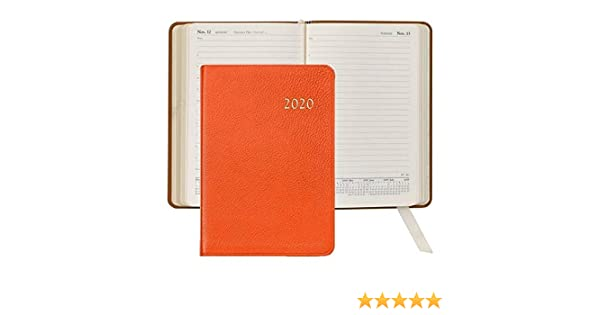 2017 BRIGHTS ORANGE Fine Leather Daily 8inch Journal by Graphic Image