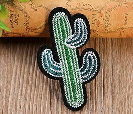 Ari_Mao Apliques Bordados de Cactus cosen la Insignia de Parche para Accesorios de Ropa de Bricolaje