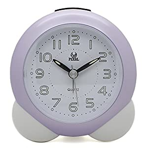 Fashion Students Cartoon Bed Bedroom Silent Alarm Clock Night Lig
