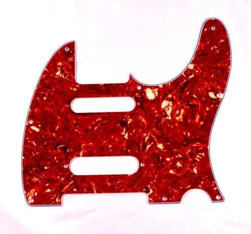 Nashville Style Guitar - (B01) Guitar Pickguard For Fender Nashville Telecaster Style Tele ,4ply Tortoise Red (B01)