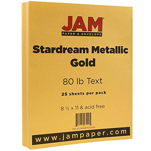 2lb Paper - 8.5 x 11 - Gold Stardream Metallic - 25 Sheets/Pack ()