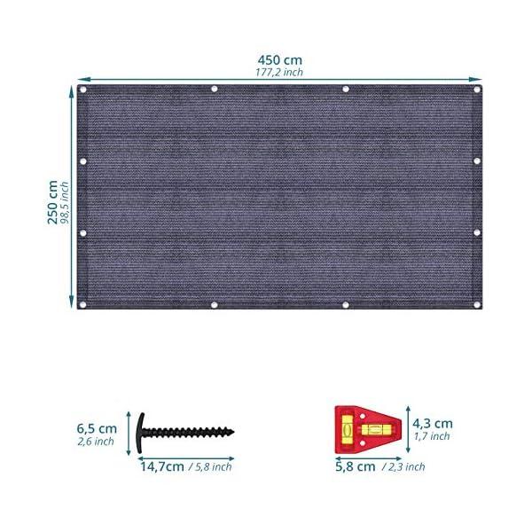 51OS p%2BftdL smartpeas Vorzeltteppich – Teppich blau/grau aus Polyethylen (HDPE) mit Edelstahl-Ösen robust & waschbar – mit…