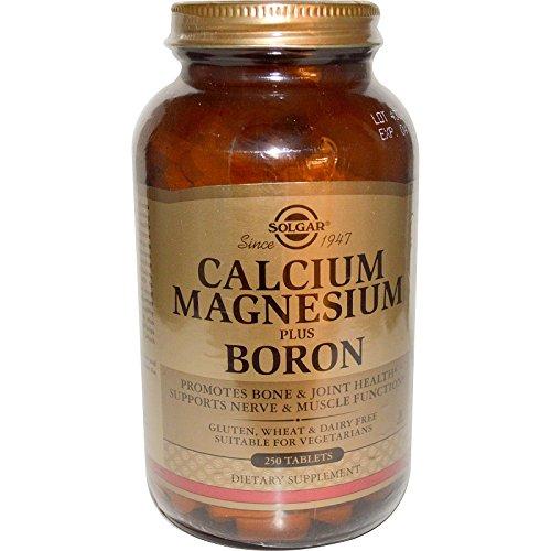 Amazon.com: Solgar Calcium Magnesium Plus Boron 250 Tablets , Shaker Bottle assorted colors 20 oz: Health & Personal Care