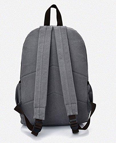 dos de Sacs Femme Mode Gris à Camping Zippers Daypack Daypacks Odomolor randonnée S6YOAnzn