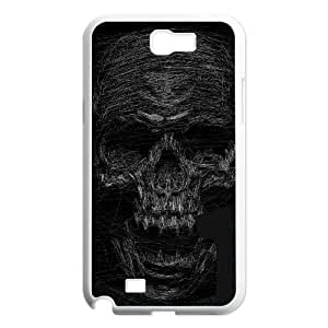 Samsung Galaxy N2 7100 Cell Phone Case White SKULL SCRIBBLES VIU919994