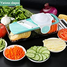 Baban Simple Version 3 in 1 Multi - function mandoline slicer Cuts Fruits & Vegetables & Cheese Chopper Food Slicer Kitchenaid,Best for Carrot, Cucumber, Cheese, Onions, Tomato, Potato and Zucchini