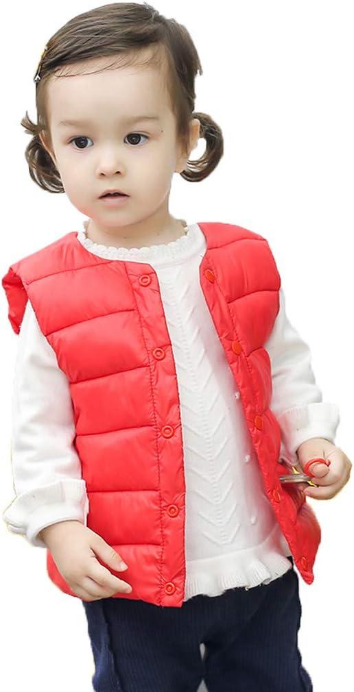 Baby Snowsuit,Toddler Kids Baby Grils Boys Solid Striped Vest Warm Waistcoat Outwear Coat