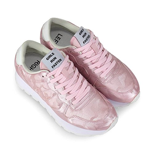 Sommer Camou Frühling Damenschuhe Rosa 2018 SUN68 Sneaker Shining XqYtgn1w8