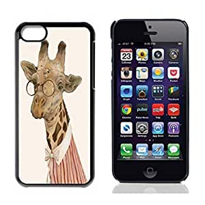 Diycase Cute Giraffe Animal Hard Plastic and Aluminum Back case cover for Apple iphone aywrtol13bX 5s for you