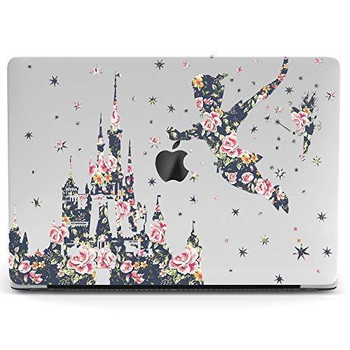 Wonder Wild Mac Retina Cover Case for MacBook Pro 15 inch 12 11 Clear Hard Air 13 Apple 2019 Protective Laptop 2018 2017 2016 2015 Plastic Print Touch Bar Cartoon Kids Cute Flower Peter Pan Vintage -