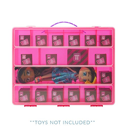Life Made Better Figures Playset Organizer, Compatible with Boxy Girls, The Box is Not Created by Boxy Girls, Pink