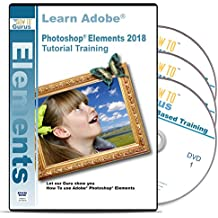 Adobe Photoshop Elements 2018 18 Training on Disc - 3 DVDs Over 16 Hours in 243 Video Tutorial Lessons