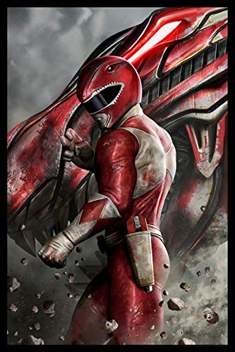 """Power Rangers Limited Edition Fine Art Lithograph""""Red Ranger"""" by Carlos Dattoli"""