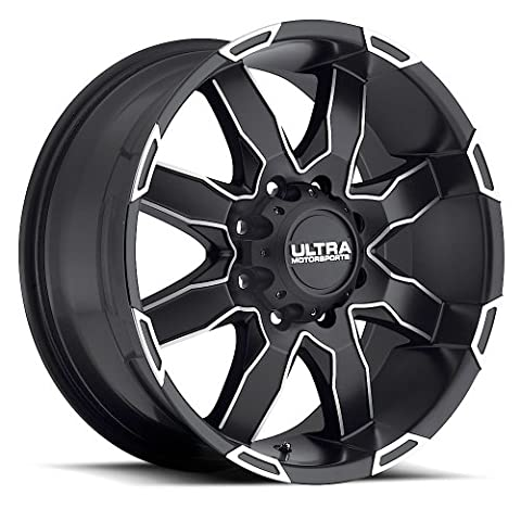Ultra Phantom 17 Black Machined Wheel / Rim 5x5.5 with a 20mm Offset and a 87 Hub Bore. Partnumber 225-7885U+20