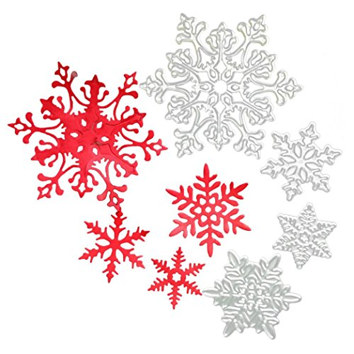 3d Snowflake Craft (Highpot Metal Cutting Dies Stencils Scrapbooking Embossing Christmas Tree Snowflakes DIY Crafts (D))