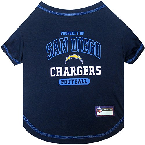 NFL LOS ANGELES CHARGERS Dog T-Shirt, X-Large. - Cutest Pet Tee Shirt for the real sporty pup ()