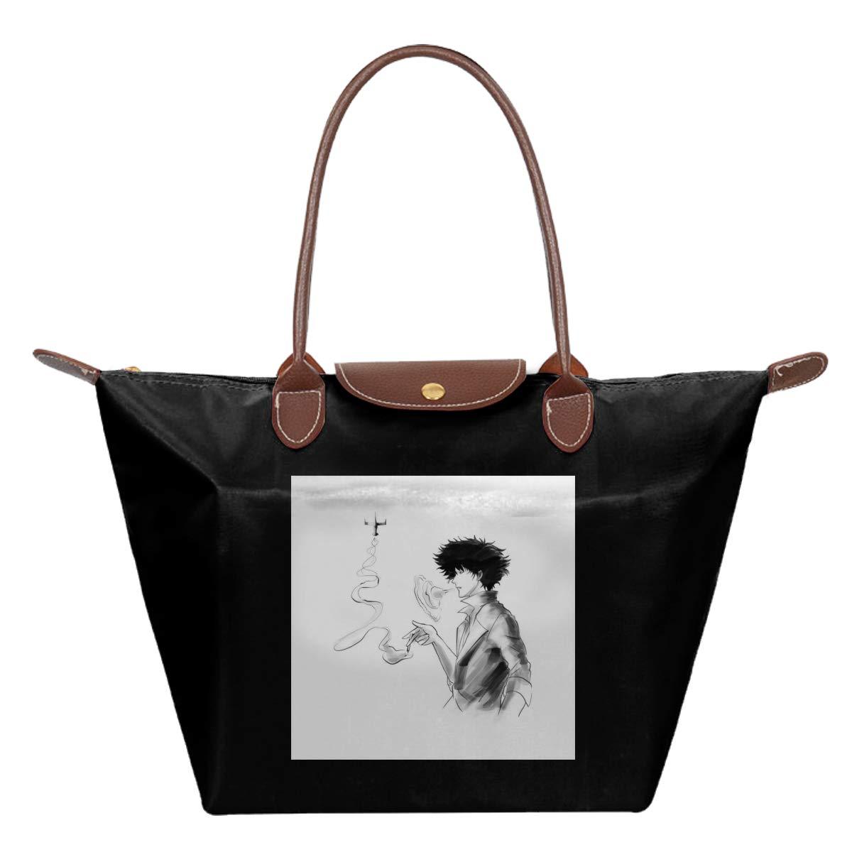 Cowboy Bebop Spike Smoke Waterproof Leather Folded Messenger Nylon Bag Travel Tote Hopping Folding School Handbags