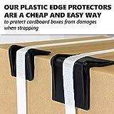 "IDL Packaging 2.25"" x 1.75"" Plastic Edge Protectors"