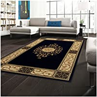 Superior Elegant Medallion Collection 2'7' x 8' Runner Rug, Attractive Rug with Jute Backing, Durable and Beautiful Woven Structure, Floral Medallion Rug with Broad Border - Coffee