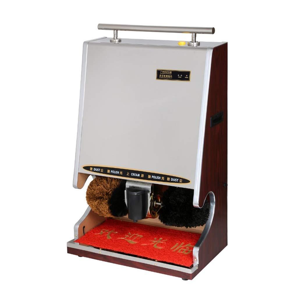 ALUS- Fully Automatic Shoe Polisher, Common in The Hotel Lobby, Titanium Wood Grain Shoe Polisher, Infrared Sensor Shoe Polisher