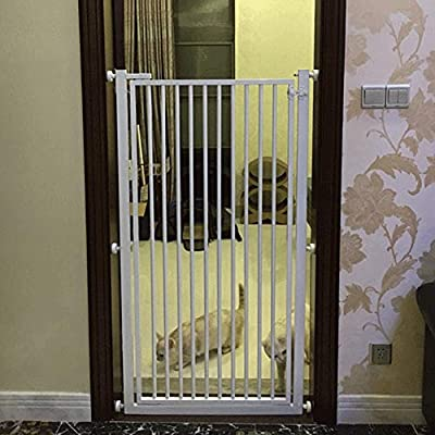 Puertas de bebé Puertas De Seguridad para Mascotas Extra Altas con Puerta para Pasear De Perros Y Gatos, Puertas para Bebés De Metal De Montaje A Presión para Escaleras De Entrada, 52-145