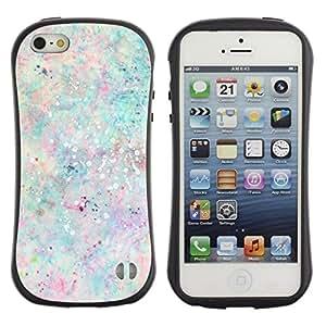 """Hypernova Slim Fit Dual Barniz Protector Caso Case Funda Para Apple iPhone SE / iPhone 5 / iPhone 5S [Paint Splash colores en colores pastel de la pintura""""]"""