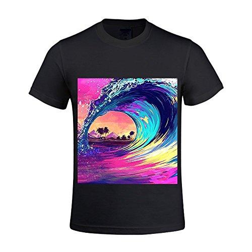 Ocean By The Boxer Rebellion Men Crew Neck Printed T Shirts Black