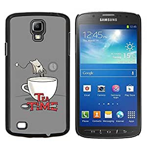 LECELL--Funda protectora / Cubierta / Piel For Samsung Galaxy S4 Active i9295 -- Cita Tea Time Bolsa divertido del dibujo del arte Comic --