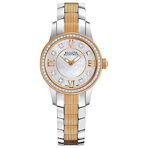 Bulova Accu Swiss Women's 65R145XG Diamond Accents Two-Tone Bracelet Watch (Certified Refurbished) by Bulova