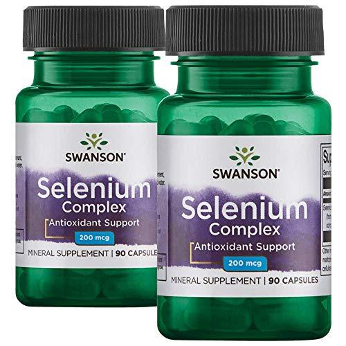 Swanson Albion Complexed Selenium 200 mcg 180 Capsules 2 Bottles