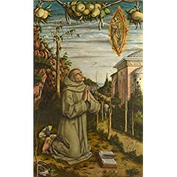 Oil Painting 'Carlo Crivelli - The Vision Of The Blessed Gabriele,about 1489' 18 x 29 inch / 46 x 74 cm , on High Definition HD canvas prints is for Gifts And Dining Room, Foyer And Gym decor, diy